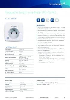 Datasheet van Homematic IP Stekkerschakelaar 3680 Watt - penaarde, met energiemeter
