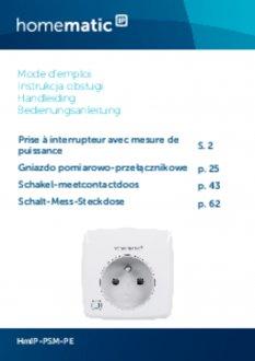 Handleiding van Homematic IP Stekkerschakelaar 3680 Watt - penaarde, met energiemeter