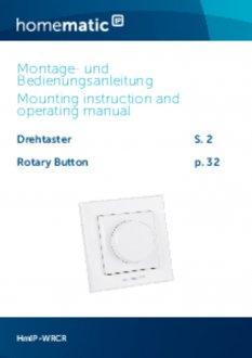 Handleiding van Homematic IP Draaiknop voor bediening van dimmers