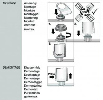 Handleiding van Homematic IP Afsluiter adapter M30 x 1,5 - VA80