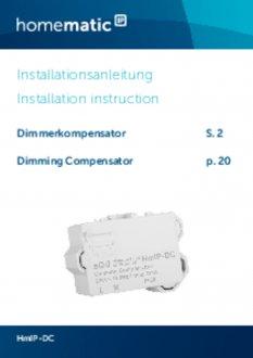 Handleiding van Homematic IP Compensator / dimstabilisator voor LED