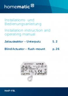 Handleiding van Homematic IP Inbouw jaloezie en lamellen schakel module