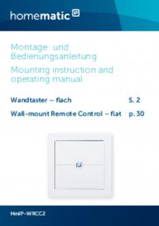 Handleiding van Homematic IP Platte draadloze drukknop met 2 knoppen
