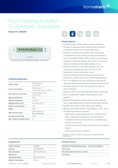 Datasheet van Homematic IP Zoneregelaar 12 kanalen - proportioneel