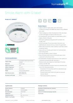 Datasheet van Homematic IP Slimme rookmelder