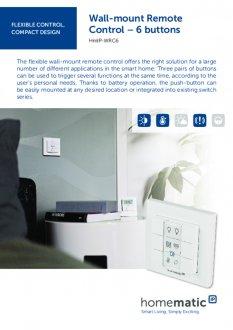 Datasheet van Homematic IP Draadloze drukknop met 6 knoppen