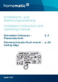Handleiding van Homematic IP Inbouw dimmer module