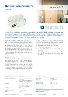 Datasheet van Homematic IP Compensator / dimstabilisator voor LED