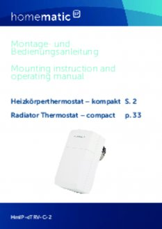 Handleiding van Homematic IP Slimme thermostaatknop compact