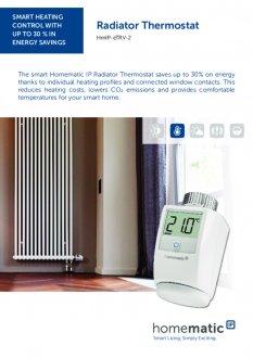 Datasheet van Homematic IP Slimme thermostaatknop