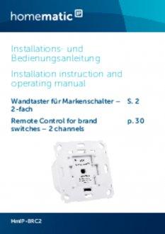 Handleiding van Homematic IP Draadloze drukknop voor merk-wipvlak