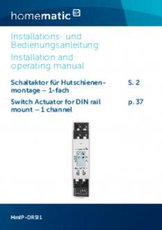 Handleiding van Homematic IP Schakelactor - 1 output en 1 input