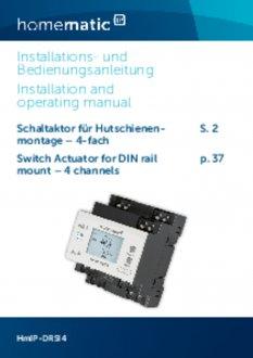 Handleiding van Homematic IP Schakelactor - 4 outputs en 4 inputs