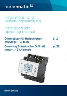 Handleiding van Homematic IP Dimactor - 3 outputs en 3 inputs
