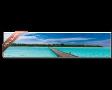 Heat4All Zijdeglans infraroodverwarming. Afdruk ter illustratie. 710 Watt. 170 x 40 cm.