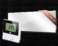 Set met Heat4All ICONIC Spiegel 1250 infraroodpaneel en draadloze Alpha IP thermostaat