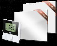 Set met Heat4All ICONIC Classic 900 en Heat4All ICONIC Spiegel 900 infraroodpaneel en draadloze Alpha IP thermostaat