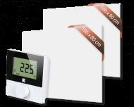 Set met 2 Heat4All ICONIC Classic 900 infraroodpanelen en draadloze Alpha IP thermostaat