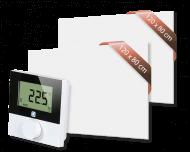 Set met 2 Heat4All ICONIC Classic 1200 infraroodpanelen en draadloze Alpha IP thermostaat