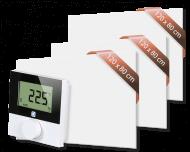 Set met 3 Heat4All ICONIC Classic 1200 infraroodpanelen en draadloze Alpha IP thermostaat