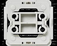 Met deze Berker B2 wipvlak adapter kunnen Berker wipvlakken en afdekramen uit de serie S.1, Modul 2, B.1, B.3, B.7 en Q.1 toegepast worden op Homematic IP schakelaars en dimmers.