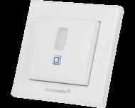 De Homematic IP integreerbare bewegingsmelder is drie in één: bewegingsmelder, lichtsterkte sensor en draadloze drukknop.