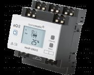 De Homematic IP 3 kanaals DIN-rail dimactor kan met elk kanaal tot 100 Watt LED of 200 Watt gloei- of halogeenlampen dimmen. Het display toont de actuele dimwaarde van elk kanaal.