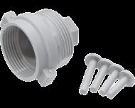 M28 radiator adapter set waarmee een slimme thermostaatknop gemonteerd kan worden op Comap, SAR, Herz en TA M28 x 1,5 afsluiters.