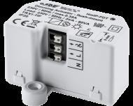 De Homematic IP inbouw dimmer module kan LEDs tot 40 Watt en halogeen- en gloeilampen tot 80 Watt dimmen en wordt ingebouwd in een inbouwdoos voor elektra.