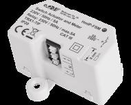 De Homematic IP inbouw schakel module tot 1150 Watt wordt ingebouwd in een inbouwdoos of verdeeldoos voor elektra en kan onzichtbaar weggewerkt worden.