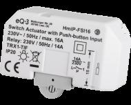 De Homematic IP inbouw schakel module tot 3200 Watt wordt ingebouwd in een inbouwdoos of verdeeldoos voor elektra en kan onzichtbaar weggewerkt worden.