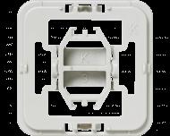 Met deze Kopp wipvlak adapter kunnen Kopp wipvlakken en afdekramen uit de serie Alaska, Athenis, Ambiente, Europa, Paris, Milano en Rivo toegepast worden op Homematic IP schakelaars en dimmers.