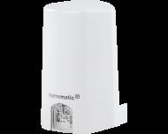 De Homematic IP lichtsterkte sensor voor buiten meet de sterkte van het zonlicht en toont de gemeten waarde in lux in de Homematic IP app.