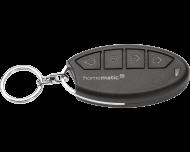 De Homematic IP alarm sleutelhanger afstandsbediening bedient het alarm en de veiligheids- en thuiskomverlichting.