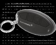 De Homematic IP sleutelhanger afstandsbediening heeft 4 universeel toe te wijzen drukknoppen.