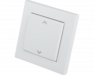 Homematic IP standaard wipvlak met pijlen voor gebruik op inbouw rolluik, zonwering, gordijn, jaloezie en lamellen schakelaars.