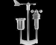 Het Homematic IP weerstation pro meet windrichting, regenval volume, temperatuur, luchtvochtigheid, windsnelheid en zonlicht sterkte.
