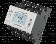 De Homematic IP 4 kanaals DIN-rail zonwering actor kan met elk kanaal motoren tot 500 Watt / 2,2 Ampere aansturen. Het display toont de actuele status van de zonwering van elk kanaal.