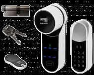 Nemef ENTR elektrische cilinder pakket met keypad, deurknop, SKG*** veiligheidscilinder en afstandsbediening