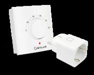 Salus draaiknop thermostaat met stekkerschakelaar voor infraroodverwarming. Model ERT20SPE